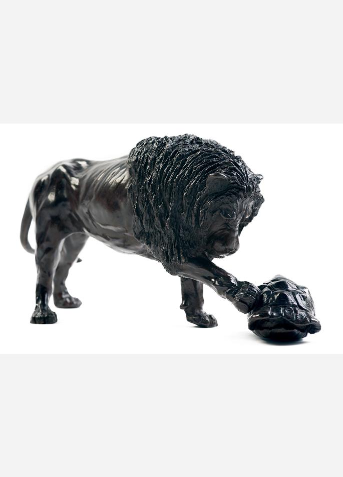 Damien Colcombet Lion et tortue