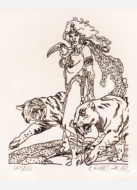 """Erró """"La Femme panthère"""""""