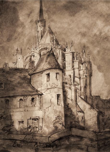 """Émile Bernard """"La cathédrale de Senlis"""""""