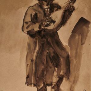 "Émile Bernard ""Gênes. Le guitariste"""