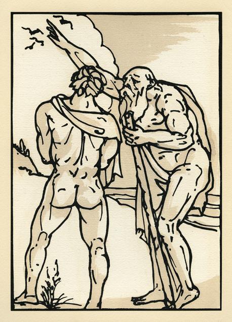 "Émile Bernard, bois gravé ""Odyssey 10"""