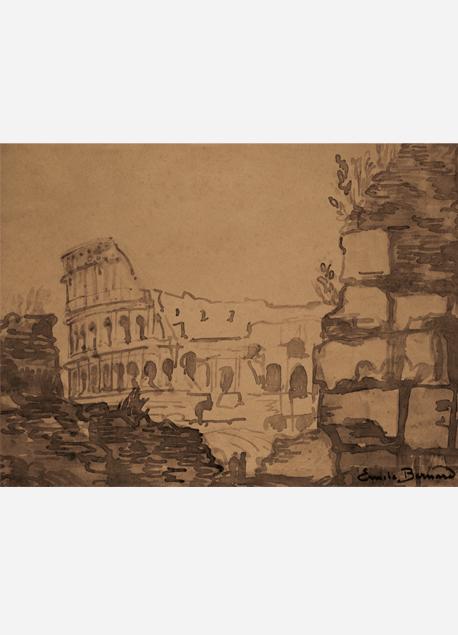 """Émile Bernard """"Rome. Le Colisée"""""""