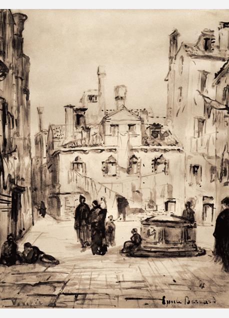 """Émile Bernard """"Scène de rue à Venise"""""""
