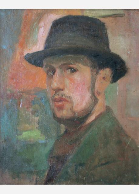 andre-tondu-autoportrait-au-chapeau