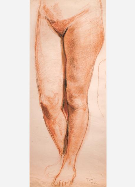 André Tondu Étude de jambes