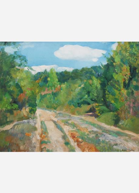 """André Tondu """"La route forestière"""""""