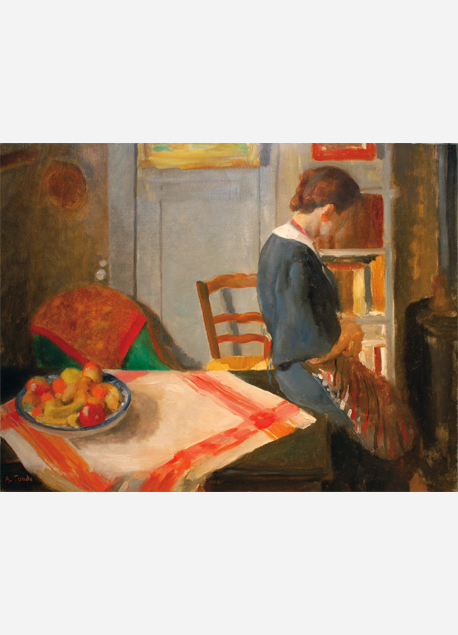 """André Tondu """"Odette dans l'atelier"""""""