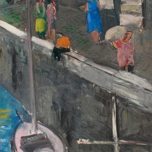 """André Tondu """"Sur le port"""""""