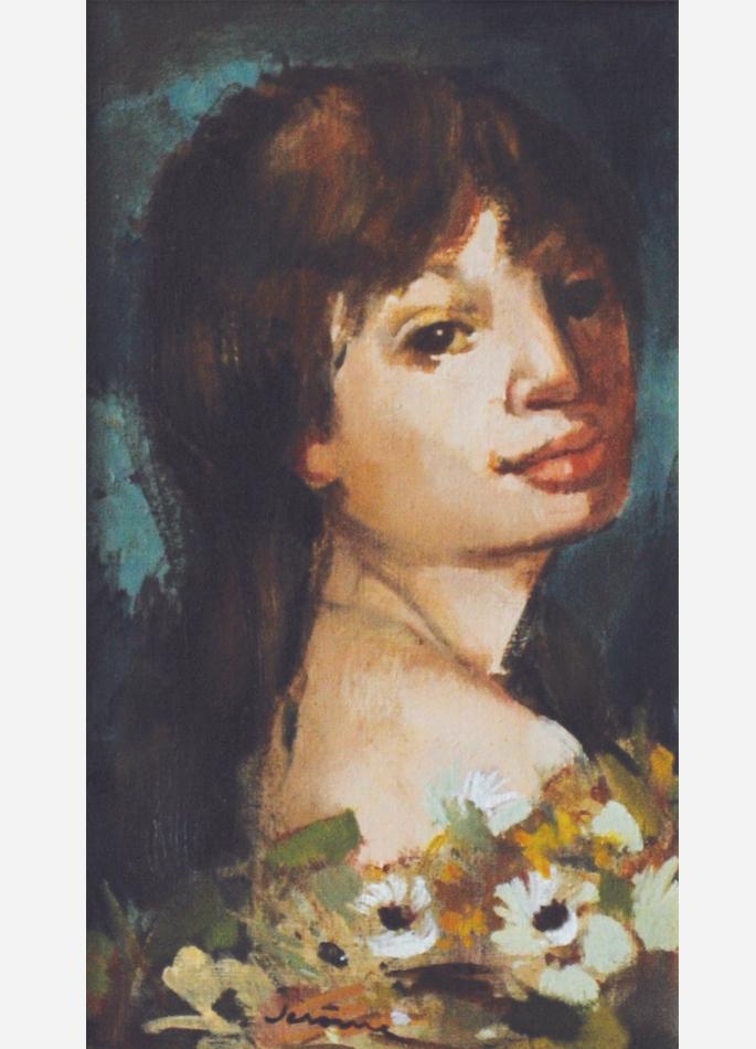 Pierre Jérôme, Portrait d'Annette aux fleurs