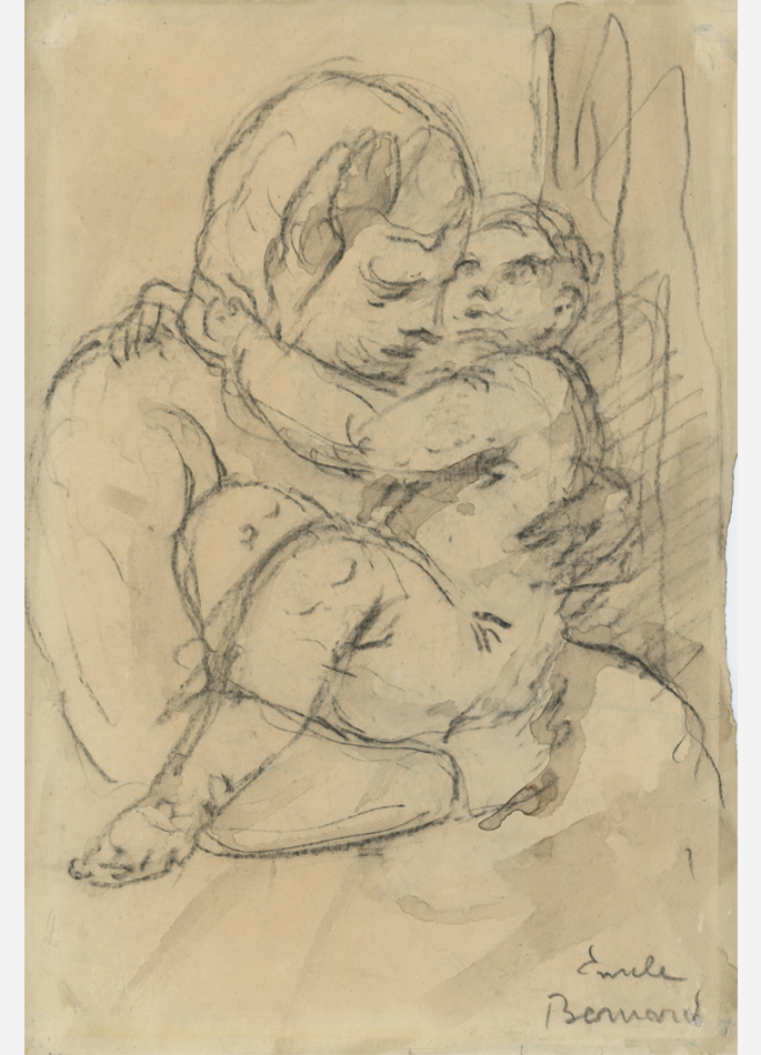 Emile Bernard Mère et enfant