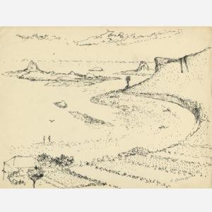 Edouard Goerg Paysage de bord de mer