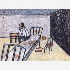 Antonio Seguí, Despertarse Mal, 2000 © Claude Planchet