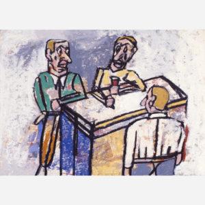 Antonio Seguí, En el Café, 2002 © Christophe des Brosses