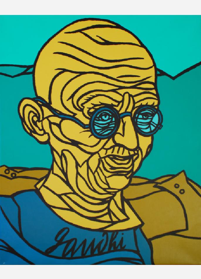 Gandhi par Valerio Adami