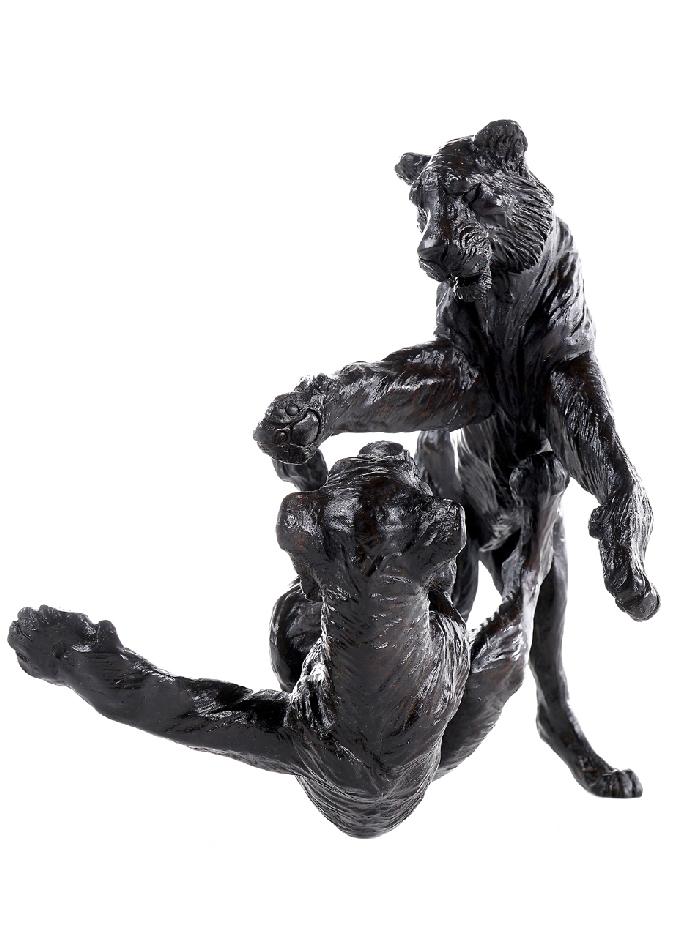 Deux-tigres-jouant-damien-colcombet