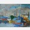 Exposition Bateaux ivres, bateaux bleus - Pierre Jerôme, Bateau bleu