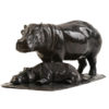 Femelle hippopotame et son petit