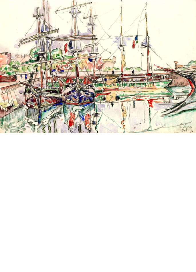 paul-signac-aquarelle-saint-malo-port