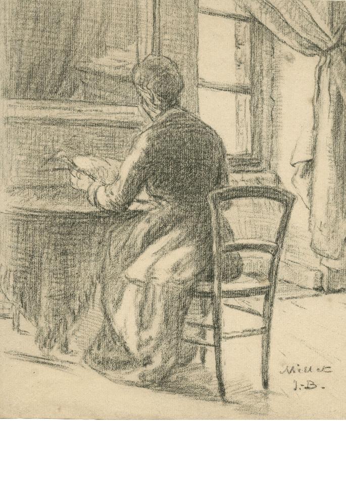 millet-femme-lisant