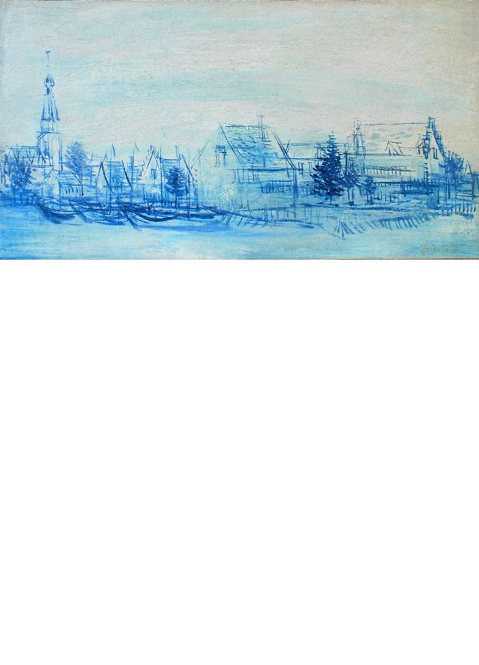 jacques-berland-paysage-marin-au-clocher-bleu