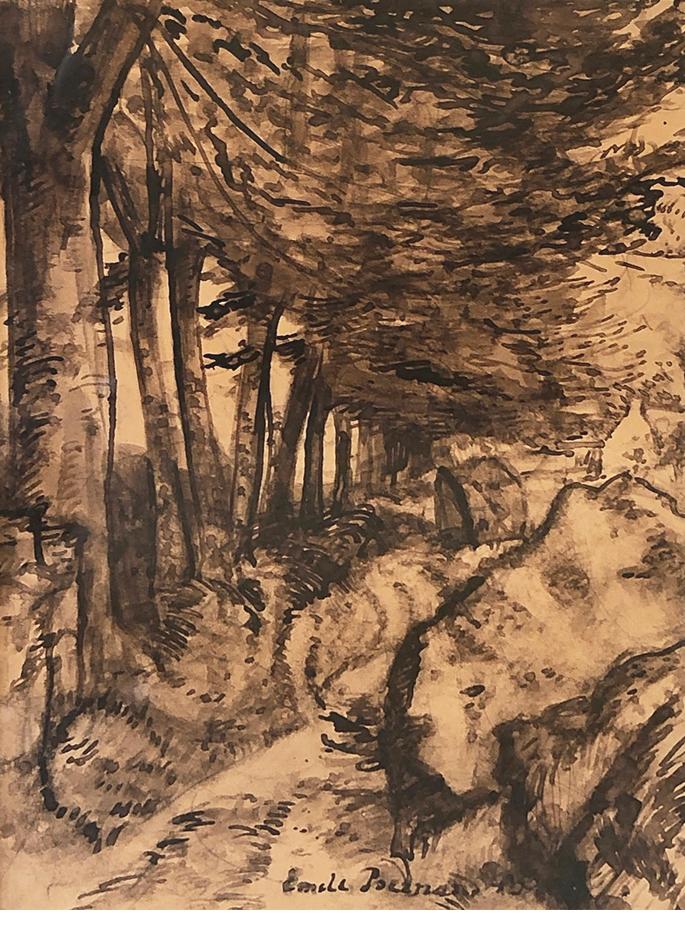 Allée arbres en Bretagne Émile Bernard