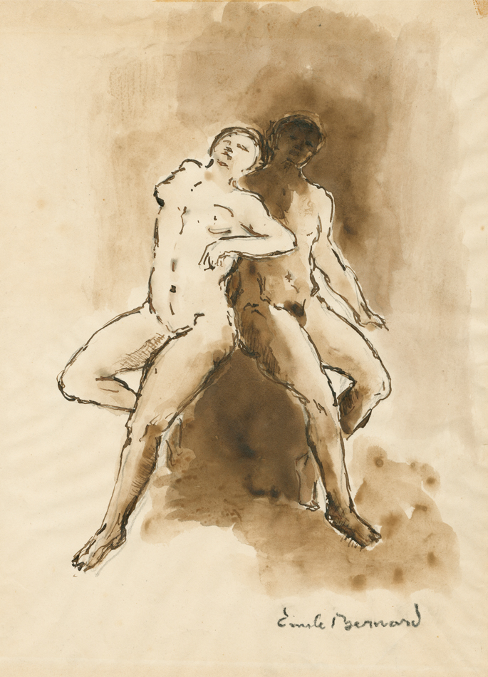 Émile Bernard Deux nus debout