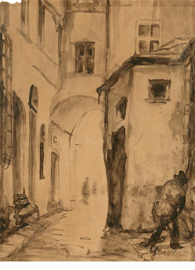 Émile Bernard Genova Genes Paysage porche