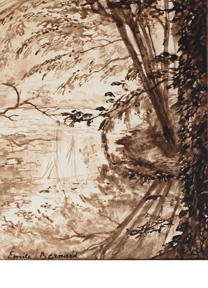 emile-bernard-paysage-bord-eau