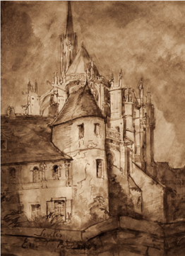 « La cathédrale de Senlis » par Émile Bernard