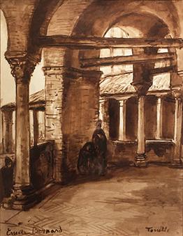 « Cloître à Torcello » par Émile Bernard