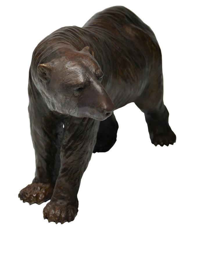 Damien Colcombet bronze Ours polaire à quatre pattes