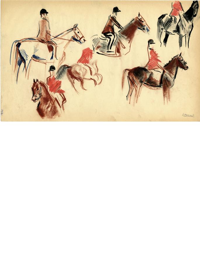 Albert Brenet dessin Concours hippique 1