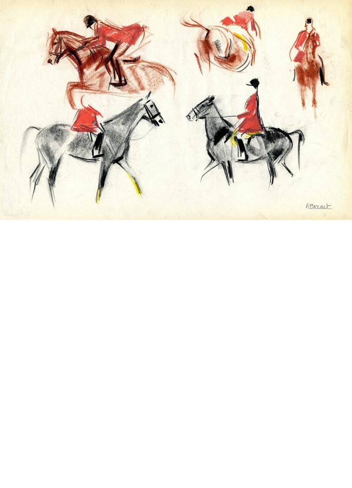 Albert Brenet dessin Concours hippique 2