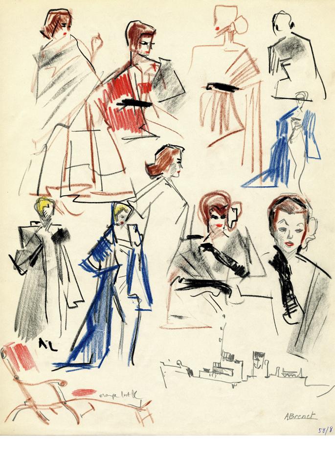 Albert Brenet dessin Défilé de mode 1