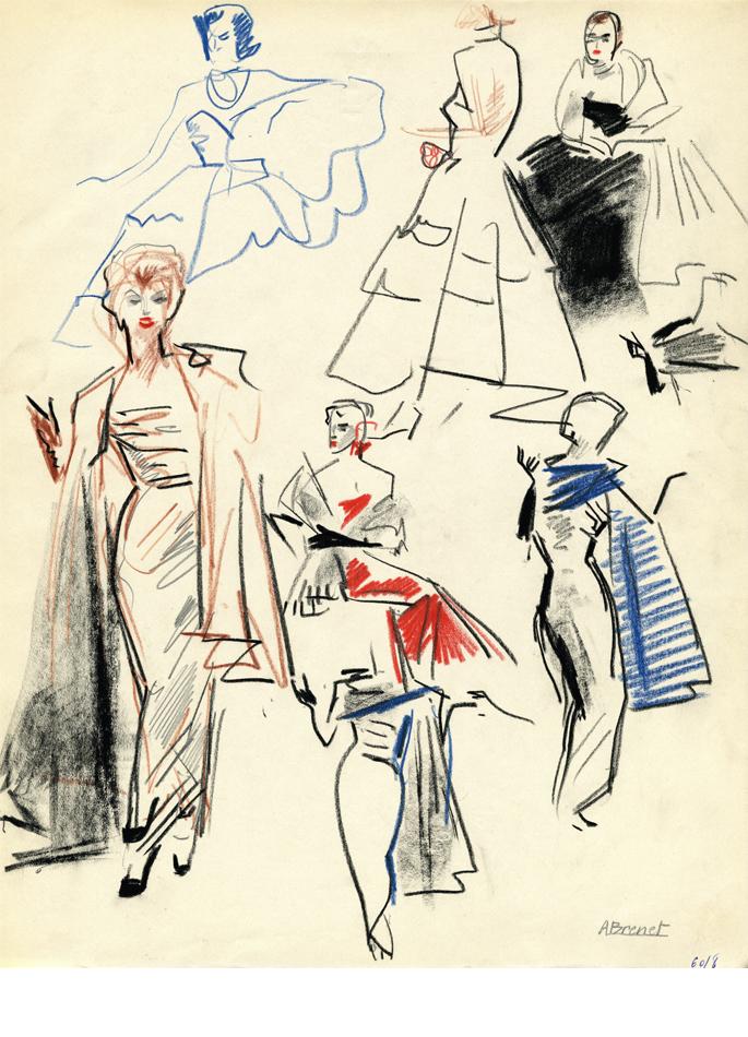 Albert Brenet dessin Défilé de mode 2