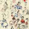 Albert Brenet dessin Espagne étude pour la Feria de Séville 2