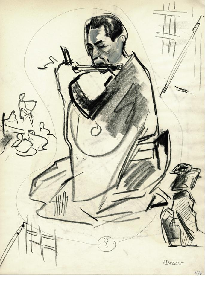 Albert Brenet dessin Japon. Figures de théâtre 4