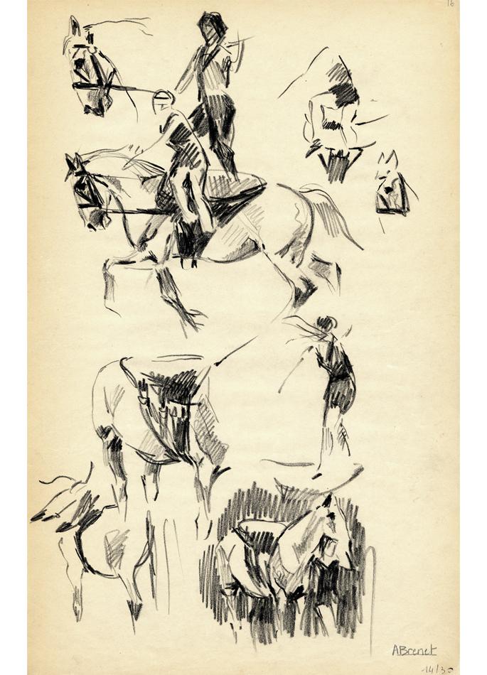 Albert Brenet dessin L'écuyère. Étude