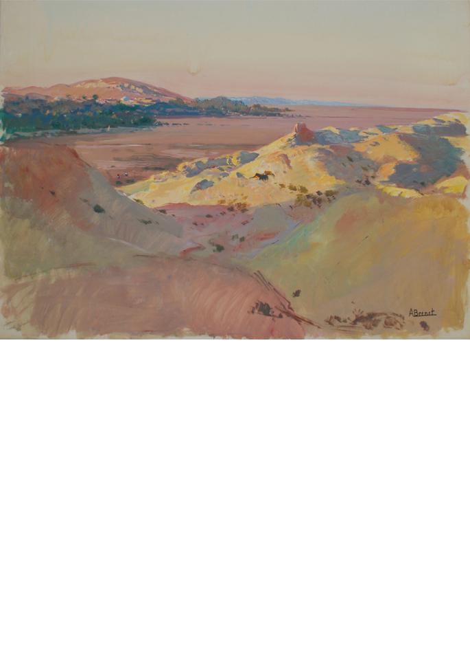 Albert Brenet gouache Tunisie le désert