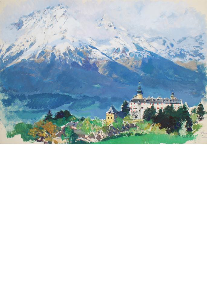Albert Brenet Tyrol. Le château d'Ambras