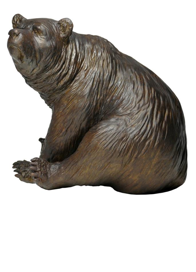 Damien Colcombet bronze Seating Brown Bear
