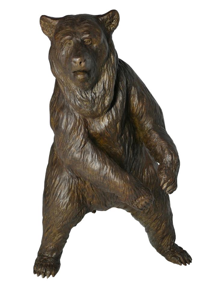 Damien Colcombet bronze Ours polaire debout