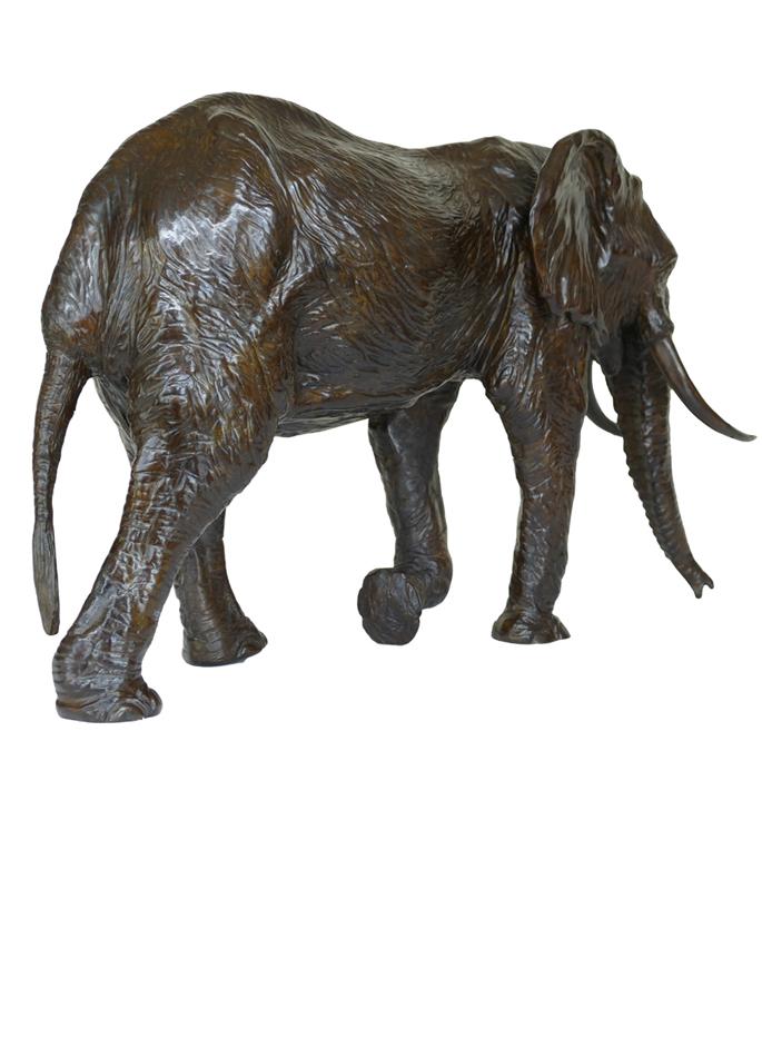 Damien Colcombet Sixième éléphant Bronze animalier