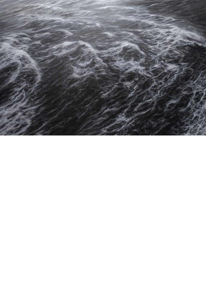 Franco Salas Borquez huile sur toile La Marche des flots