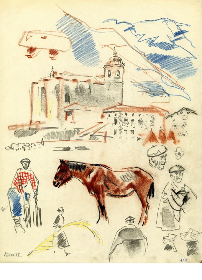 Albert Brenet dessin Espagne