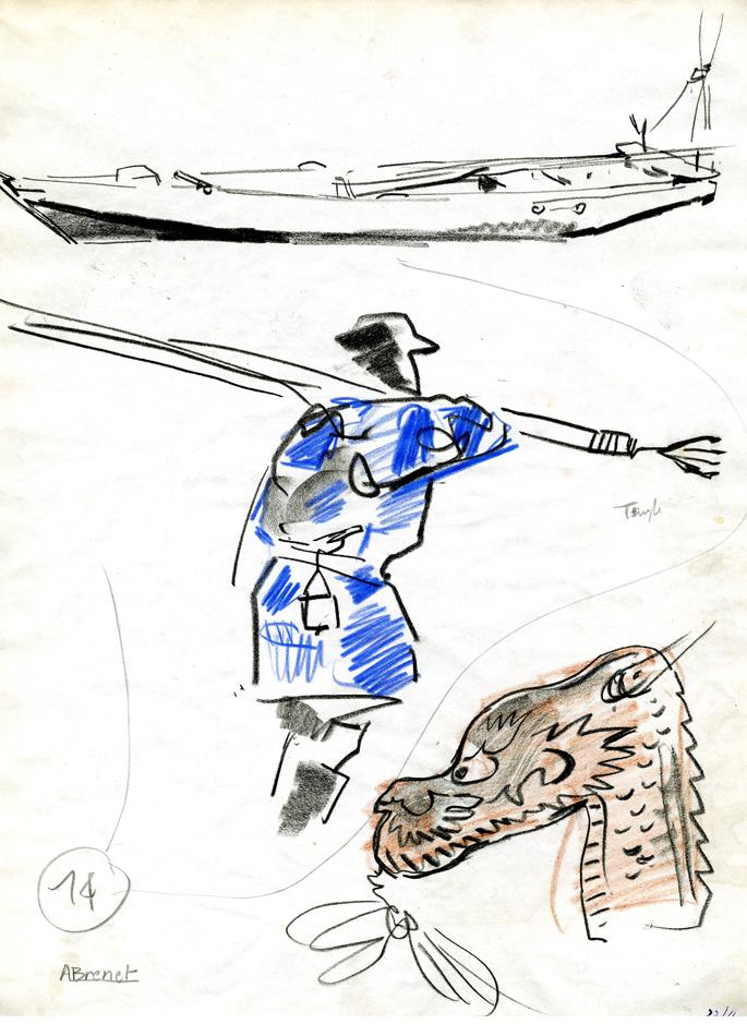 Albert Brenet dessin Japon dragon