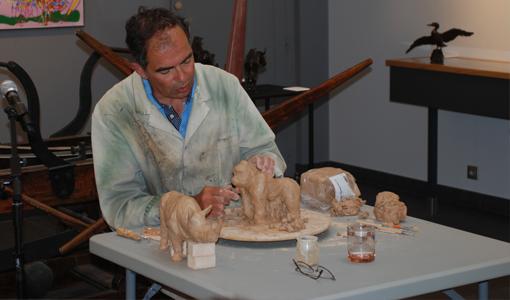 Démonstration sculpteur Damien Colcombet