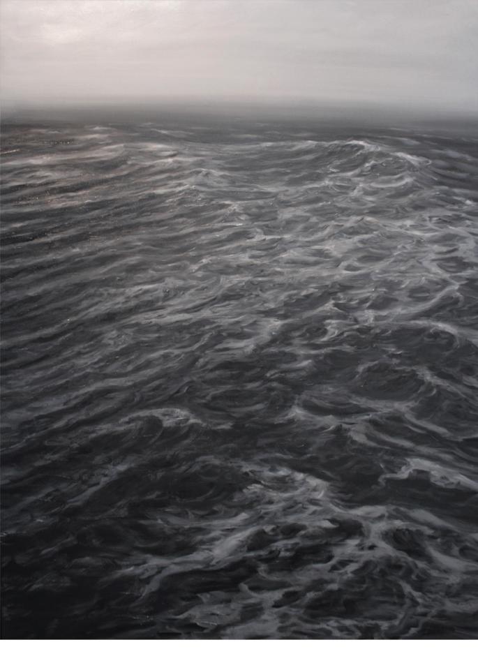 Franco Salas Borquez huile sur toile L'Empreinte du vent