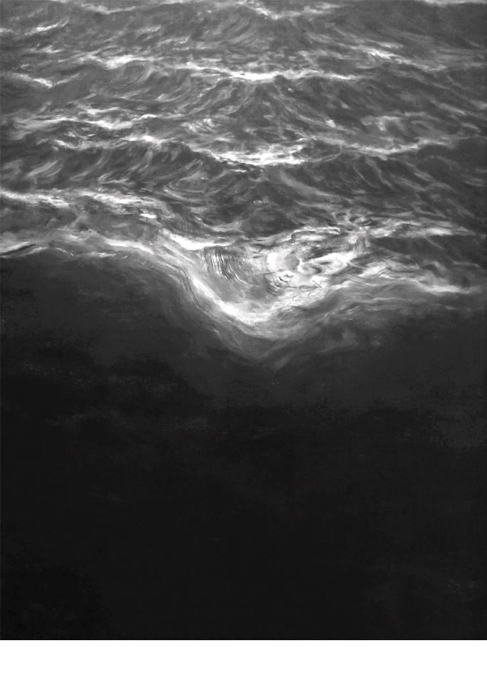 Franco Salas Borquez huile sur toile Vue du ciel